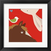 Farm Group: Rabbit and Horse Framed Print