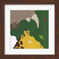 Framed Safari Group: Giraffe and Rhino