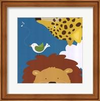 Framed Safari Group: Leopard and Lion
