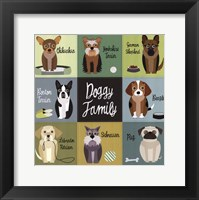 Framed Doggy Family