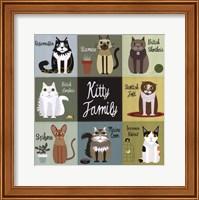 Framed Kitty Family