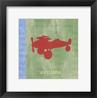 Framed Vintage Toys Airplane