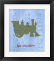 Vintage Toys Locomotive Framed Print