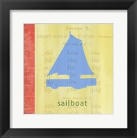Framed Vintage Toys Sailboat