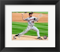 Framed Justin Verlander 2010 Action