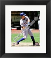 Framed Ian Kinsler 2010 Action Hitting