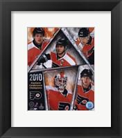 Framed Philadelphia Flyers 2009-10 Eastern Conference Champions Team Composite