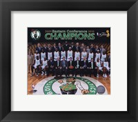 Framed 2009-10 Boston Celtics Team Photo with Eastern Conference Champions Overlay