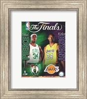 Framed 2009-10 NBA Finals Matchup Composite