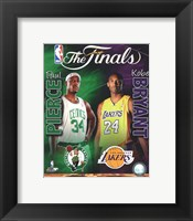 Framed 2009-10 NBA Finals Matchup Composite