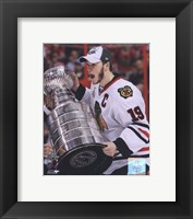 Framed Jonathan Toews with the 2009-10 Stanley Cup (#26)