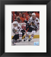 Framed Patrick Kane & Jonathan Toews 2009-10 NHL Stanley Cup Finals Game 3 Action (#11)