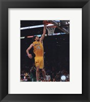 Framed Pau Gasol Game One of the 2009-10 NBA Finals (#3)