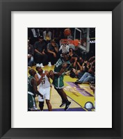 Framed Kendrick Perkins Game Two of the 2009-10 NBA Finals(#4)