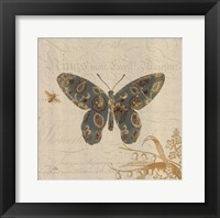Natures Pattern II in Blue Framed Print