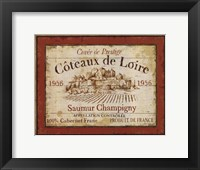 Framed French Wine Labels II