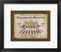 Framed French Wine Labels III