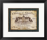 Framed French Wine Labels IV