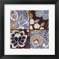 Framed Patchwork Motif Blue I