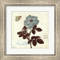 Framed Touch of Blue II- Faith