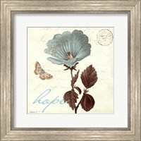 Framed Touch of Blue III- Hope