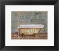 Framed Voyage Romantique Bath I