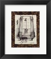 Elegant Bath I Framed Print