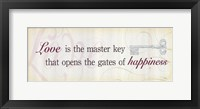 Framed Love is the Master Key