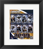 Framed San Diego Chargers 2009