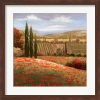 Framed Tuscan Cypress I