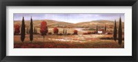 Framed Tuscan Poppies I