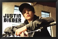 Framed Justin Bieber - Bike