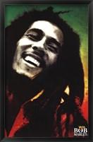 Framed Bob Marley - Paint