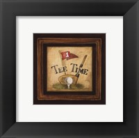 Golf Tee Time - petite Framed Print