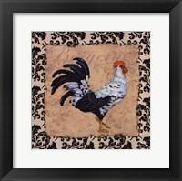 Framed Bergerac Rooster Black I