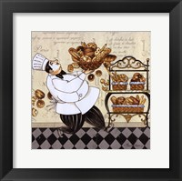Chef Bread Framed Print