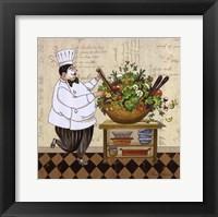 Chef Salad Framed Print
