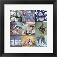 Beach Access Framed Print