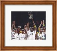 Framed Los Angeles Lakers 2009-10 NBA Finals Team Celebration (#22)