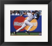 Framed Derek Jeter 2010 Action