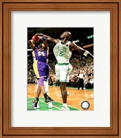 Framed Kevin Garnett Game Five of the 2009-10 NBA Finals Action (#12)