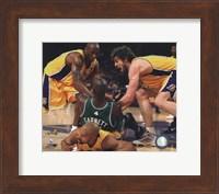 Framed Kobe Bryant, Pau Gasol, Derek Fisher & Kevin Garnett fight for ball - 2010 NBA Finals Game 6 (#15)
