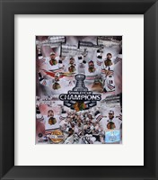 Framed Chicago Blackhawks Stanley Cup Champions PF GOLD