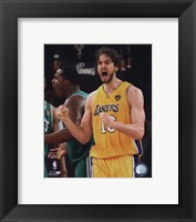 Framed Pau Gasol - 2010 NBA Finals Game 7 (#19)