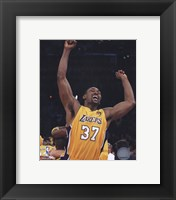 Framed Ron Artest - 2010 NBA Finals Game 7 Celebration (#18)