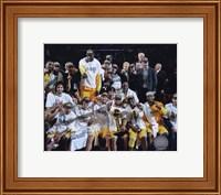 Framed LA Lakers 2010 Finals Champs sit down Celebration (#32)