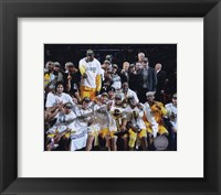 Framed LA Lakers 2010 Finals Champs sit down Celebration (#32)