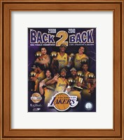 """Framed Los Angeles Lakers """"Back-to-Back"""" PF GOLD Limited Edition"""