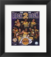 "Framed Los Angeles Lakers ""Back-to-Back"" PF GOLD Limited Edition"