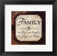 Framed Family - We Live